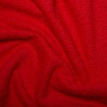 Red Heavy Cotton Towelling Fabric
